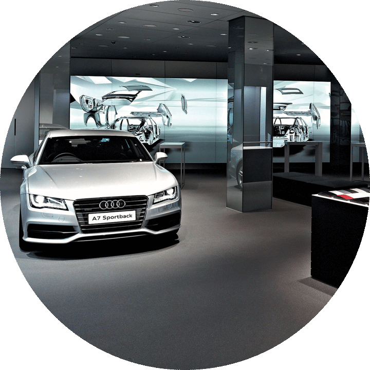 The first digital showroom for Audi