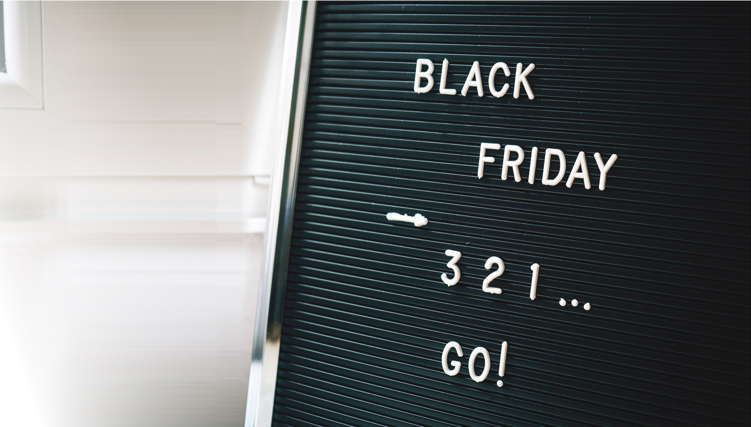 Sign promoting Black Friday sales