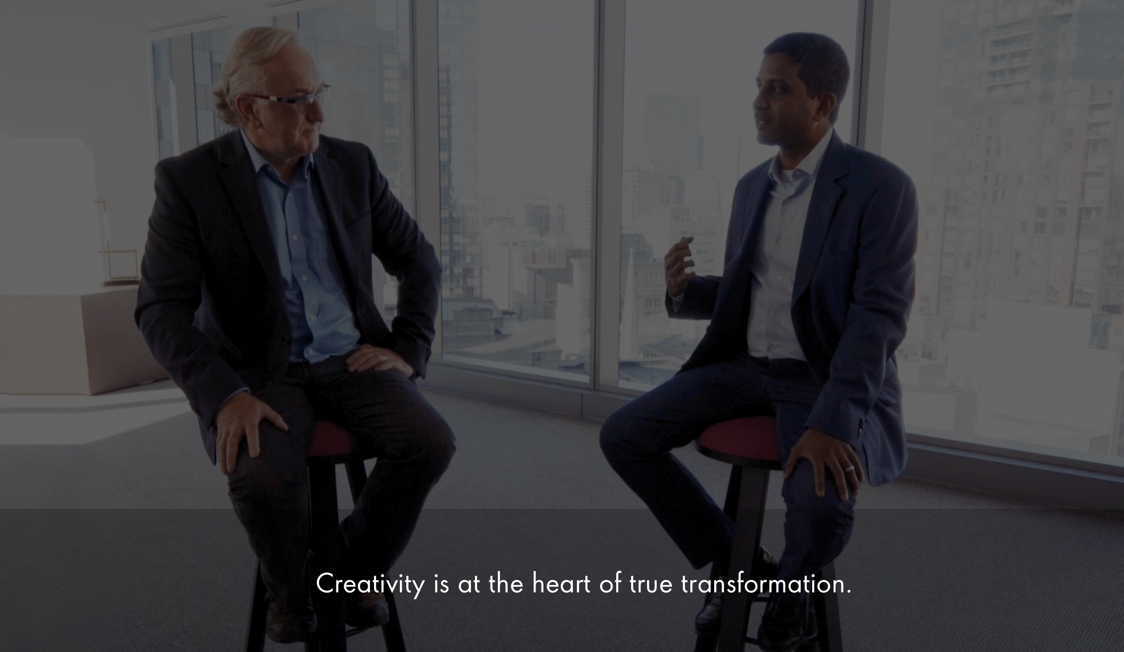 Creativity is at the heart of true transformation.