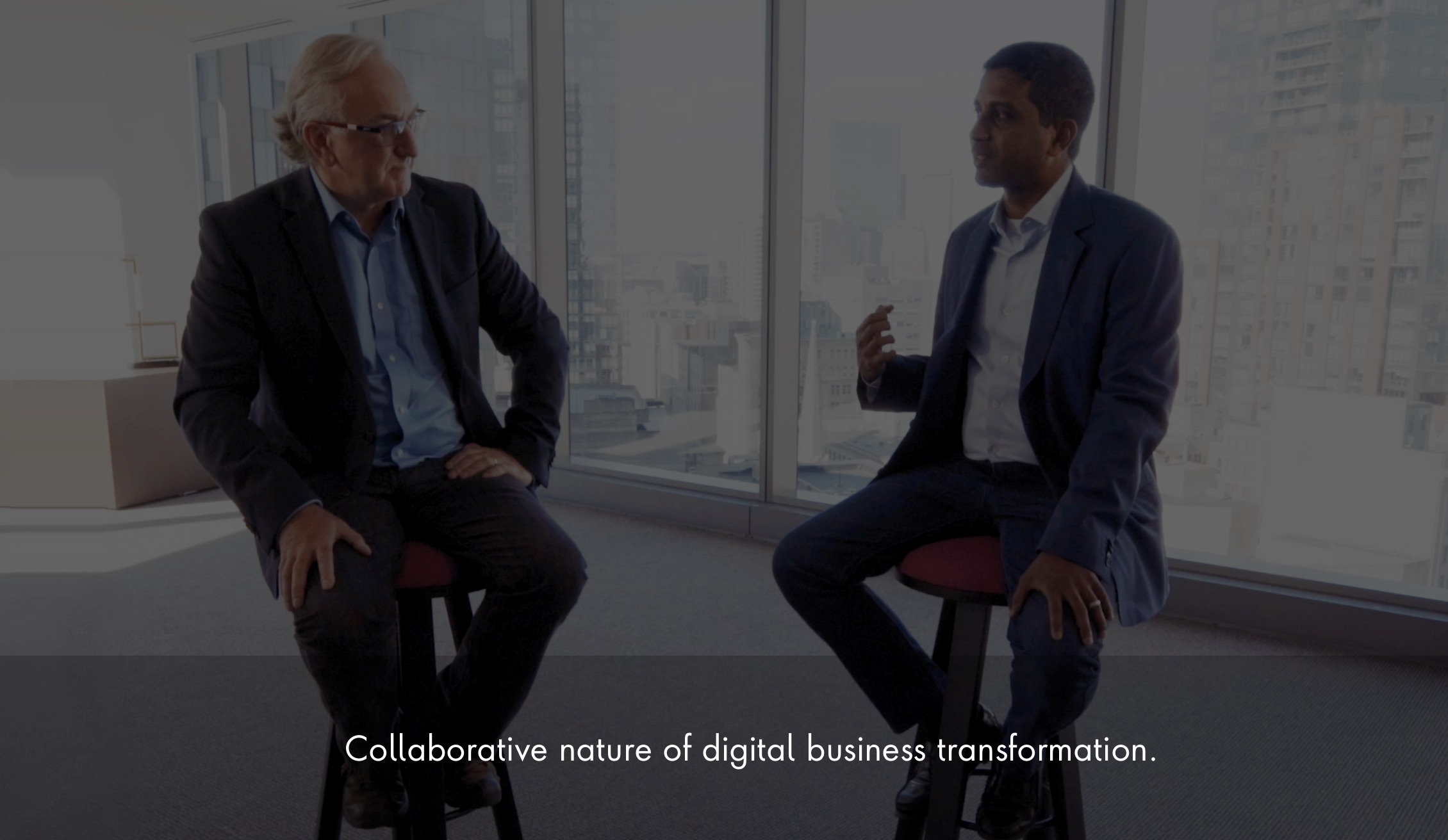 Collaborative nature of digital business transformation.