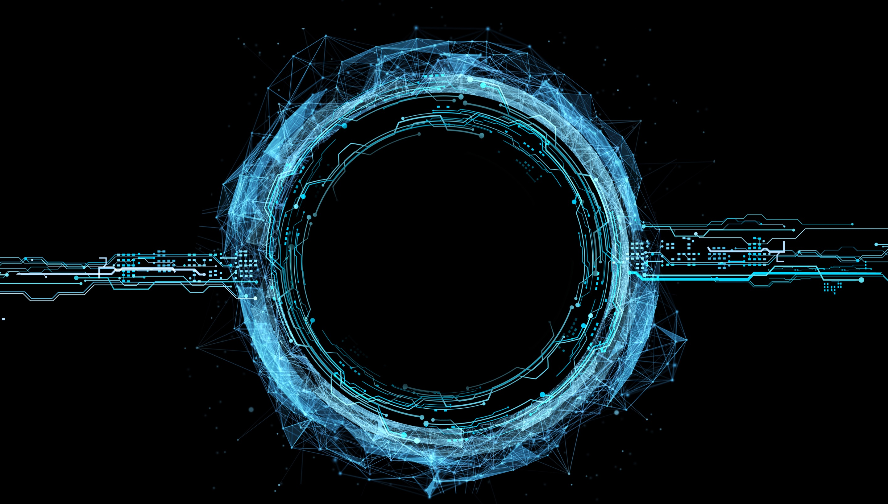 abstract circular image representing technology and engineering