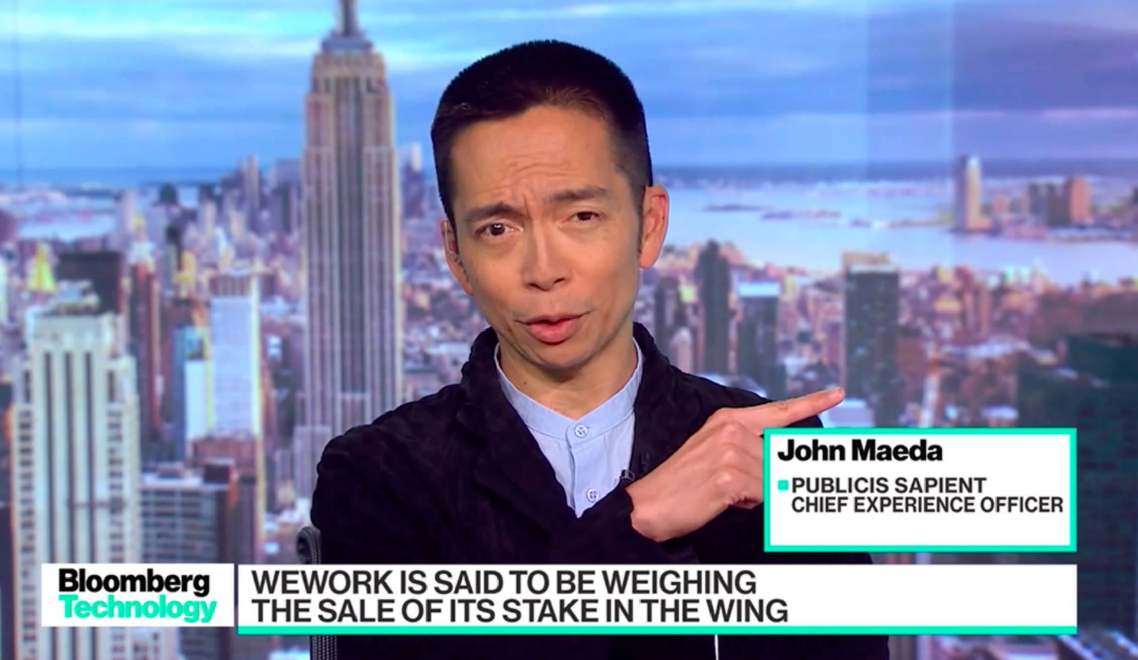 John Maeda talks to Bloomberg Technology