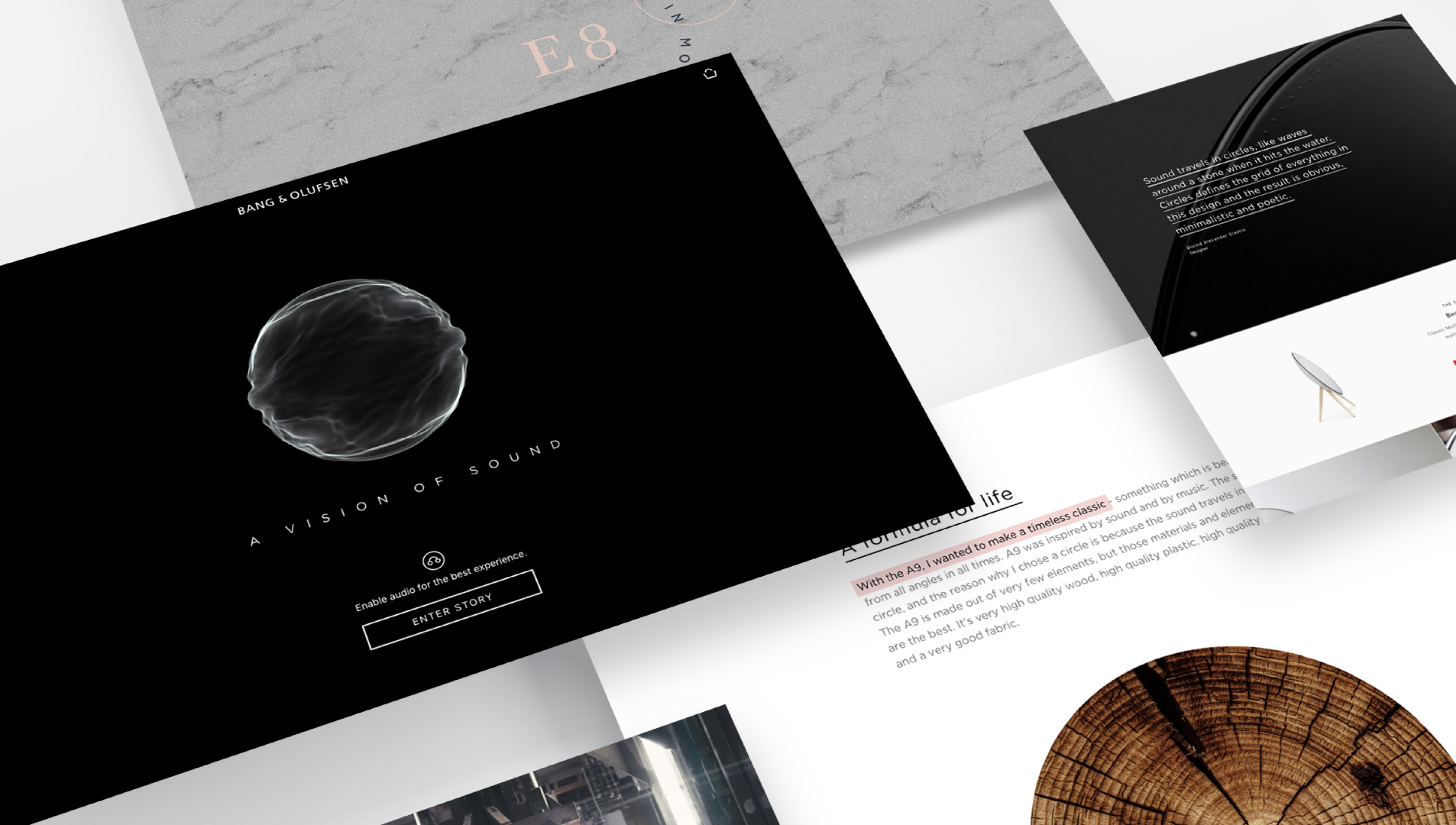 overview of Band & Olufsen digital collateral
